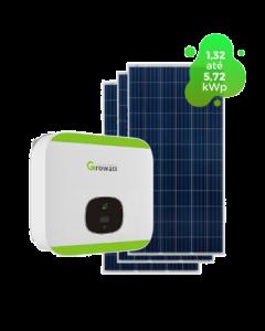 GERADOR DE ENERGIA GROWATT 5,72kWp