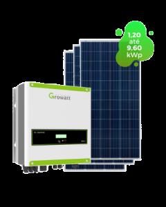 GERADOR DE ENERGIA GROWATT 9,24kWp