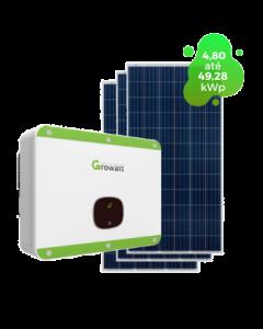 GERADOR DE ENERGIA GROWATT 49,28kWp