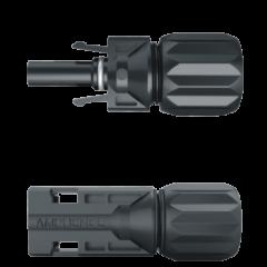 PAR CONECTOR MC4 - H4 1500V(MACHO/FEMEA)