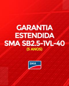 Garantia Estendida SMA SB 2.5-1VL-40 5 anos