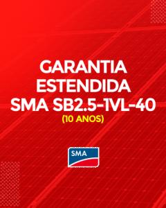 Garantia Estendida SMA SB 2.5- 1VL-40 10 anos